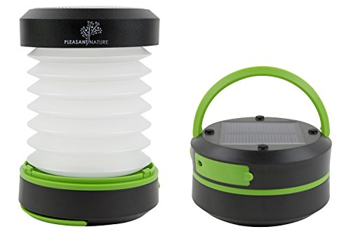 Pleasant Nature Upgraded Solar Powered Camping Lantern and Charger