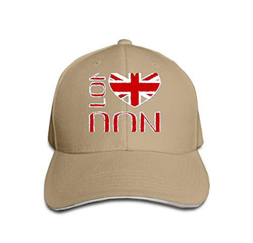 Classic Unisex Baseball Cap Adjustable London City Typography British Flag Fashion Printing Design SPO Sand Color -