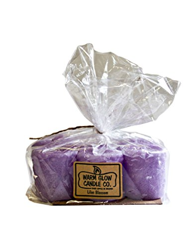 (Warm Glow Candle Company Lilac Blossom 6 Pack Votive Candles)