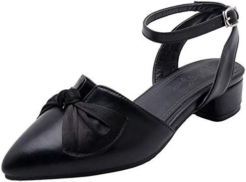 FANIMILA Women Fashion Flats Sandals Ankle Strap Closed Toe