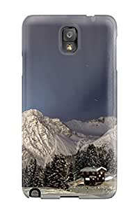 For Galaxy Note 3 Tpu Phone Case Cover(winter Night In The Mountains)