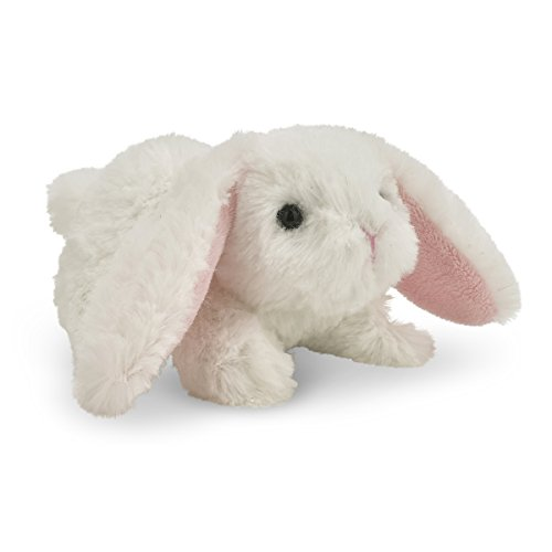 Bearington Bunnykin White Bunny Rabbit Noisemaker Stuffed Animal Toy, - Antiqued Bunny