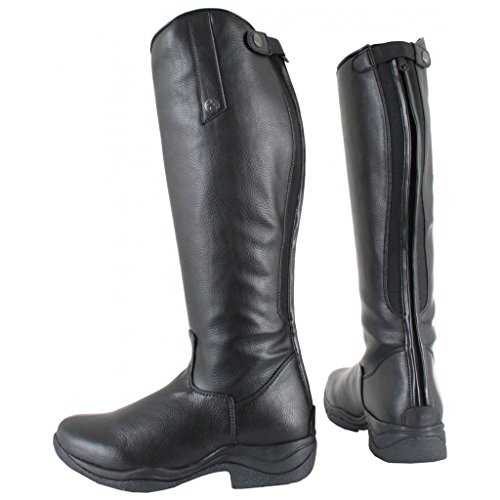 Horka Reitstiefel Adults Mesh Leather Elastic Laces Lizz Soft Gummisohle Schwarz vn8nr6