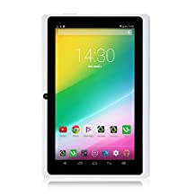 "iRULU X1S 7"" Google Android 4.4 Tablet, GMS Certified by Google, 1024*600 HD Resolution, Quad Core, 16GB Nand Flash - White"