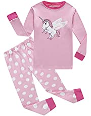 Family Feeling Zebra Little and Big Girls 2 Piece 100% Cotton Pajamas Sets Kids PJS