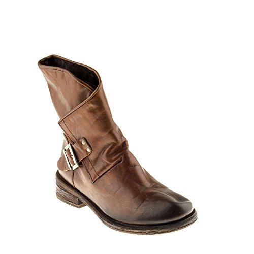 Felmini Chaussures Femme - Tomber en Amour avec Verdy A729 - Bottes Cowboy & Biker - Cuir V