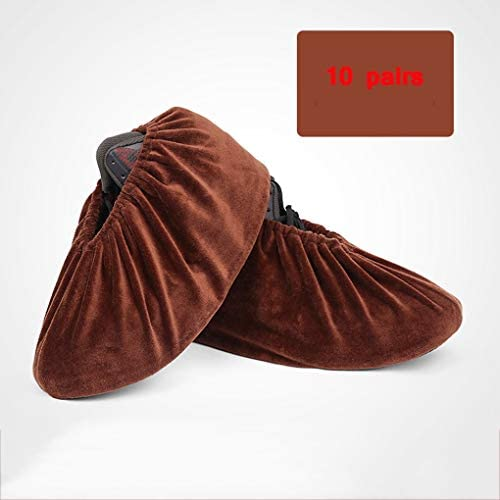 DUWX 多機能フランネル靴カバー、厚手の耐摩耗性滑り止めフットカバー (Color : A6, Size : 10 pairs)