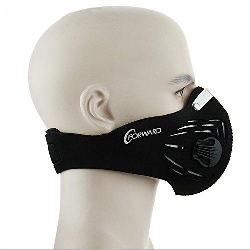 CFORWARD Dustproof Mask Activated Carbon Filtration Exhaust Gas Anti Pollen Allergy PM2.10 Face Mask for Running Cycling and Other Outdoor (Gas Shield)