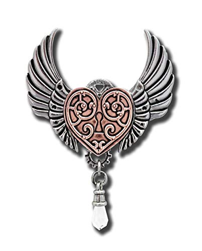 Pendant For A Warrior'S Heart Steampunk Gothic Jewelry