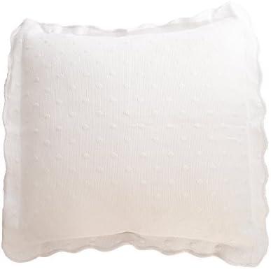 Algodonea Cuadrante Lolita, Blanca, fabicada en CEE. (cojin Blanco Lolita 50x70cm)