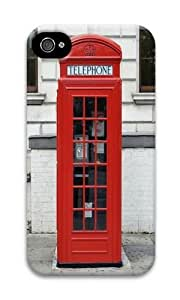 Iphone 4S Case Red British Phone Booth PC Hard Case For Iphone 4S
