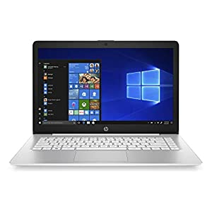 HP Stream 14-Inch Touchscreen Laptop, AMD Dual-Core A4-9120E Processor, 4 GB SDRAM, 64 GB eMMC, Windows 10 Home in S Mode with Office 365 Personal for One Year (14-ds0110nr, Diamond White)