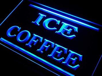 Amazon.com: Tienda de café de hielo Letrero De Led Luz de ...