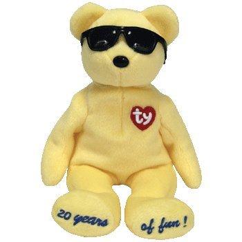 Amazon.com  TY Beanie Baby - SUMMERTIME FUN the Bear (YELLOW - Los ... 4032e0660f7