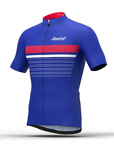 - Runhit Men's Cycling Jerseys Tops Biking Shirts Short Sleeve Bike Clothing Full Zipper Bicycle Jacket Pockets