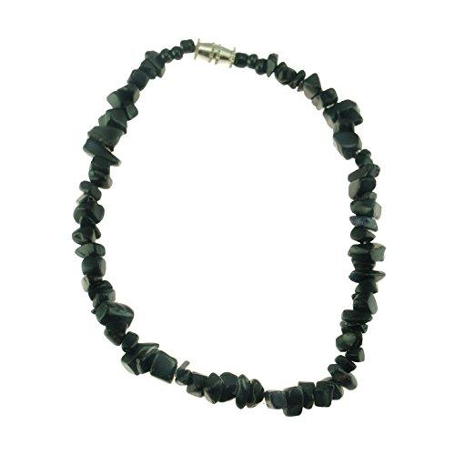 - Black Onyx Gemstone Chips Anklet
