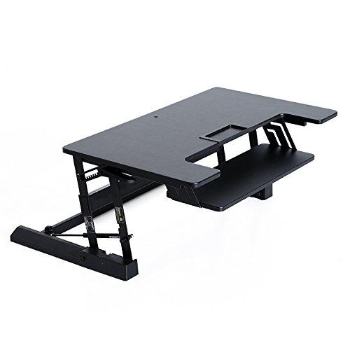 HomCom 36'' Tabletop Height Adjustable Sit and Standing Desk Computer Riser by HOMCOM