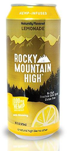 Rocky Mountain High 16 Fluid Ounce Hemp Lemonade Water Drink  24 Pack