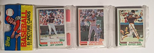 1982 Topps Vintage Baseball Un-Opened Rack Pack (51 Cards). Look for the Cal Ripken Rookie Card
