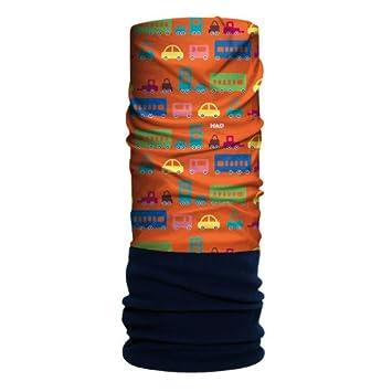 H.A.D. Originals - Sciarpa tubolare con pile, motivo traffico, taglia unica, colore: Arancione/Blu 24-HA2200297