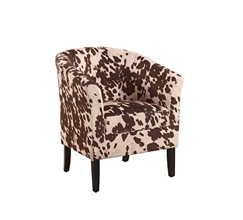 Animal Print Arm Chair - Linon Simon Chair, Udder Madness