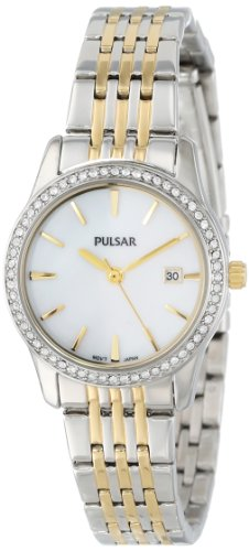 PULSAR Unisex PH7235 Analog Japanese-Quartz Two Tone Watch