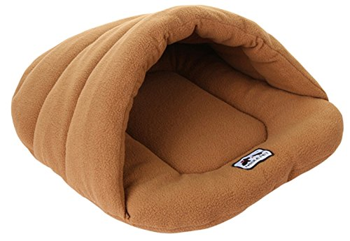 DORA BRIDAL Pet Cat Puppy Sleeping Bag Warm Soft Solid Dog Bed Cuddler House Hole Cave Igloo Nest Cozy Bed for Pets