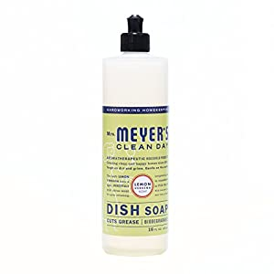 Mrs. Meyer's Kitchen basics set, Lemon Verbena, 3 ct: dish soap, hand soap & multi-surface everyday cleaner