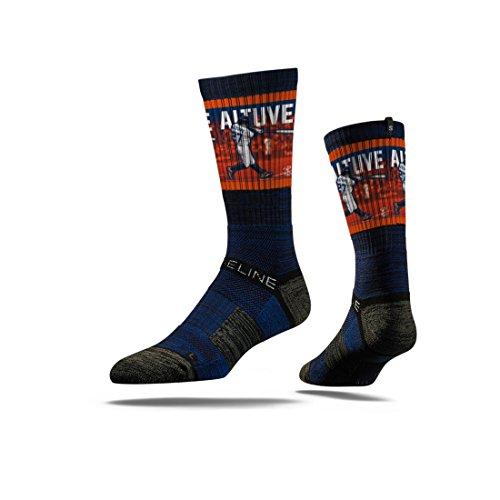 Houston Astros Socks - Strideline MLB Houston Astros AL MVP Jose Altuve Crew Socks, Navy, One Size