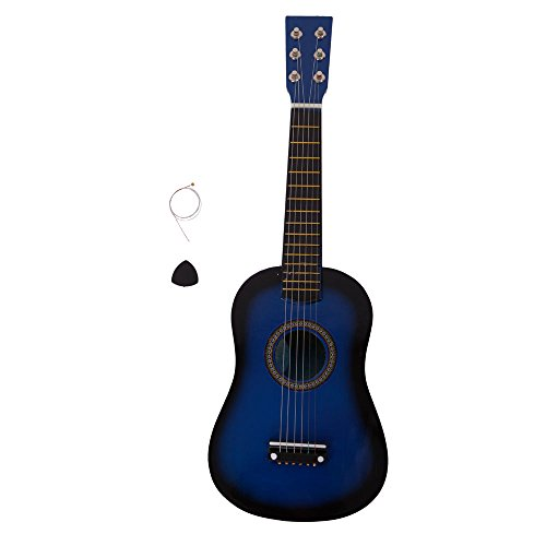 23 Inch 6 String Wooden Guitar Musical Instruments Toys for Beginners with String and Pick,Blue by OASIS FOX