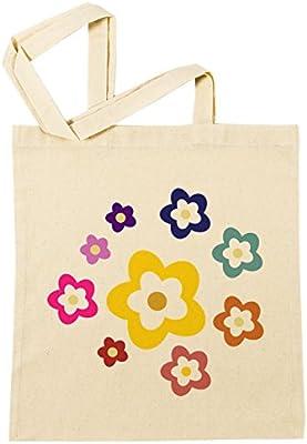 Flores Bolsa De Compras Playa De Algodón Reutilizable Shopping Bag ...
