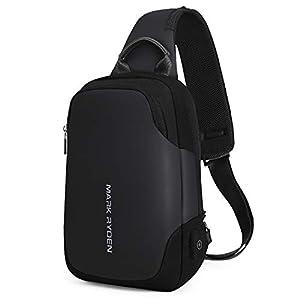 "Mark Ryden Anti-theft Sling Chest Bag Handbag for Men Waterproof Crossbody Travel Shoulder Bag Fit for 9.7"" ipad 29"