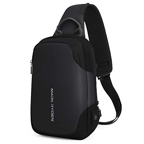 Shoulder Bag Backpack Cross - Mark Ryden Anti-theft Sling Chest Bag Handbag for Men Waterproof Crossbody Travel Shoulder Bag Fit for 9.7