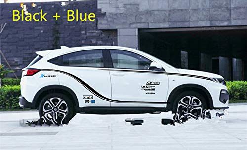 B   BK Material WRC Letters The Whole Set Door & Waist Line Car Sticker for Honda XRV CRV Jade BA025  (color Name  B, Size  BK Material)