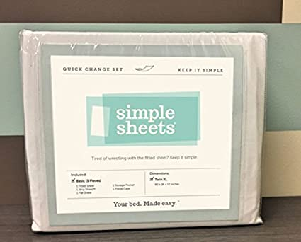 Quick Change Bed Sheets For Hospital Beds And Dorms (5 Piece   Basic Set)