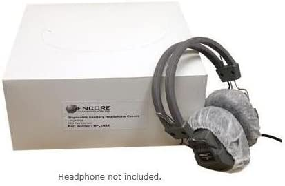 Disposable Sanitary Headphone Covers Large for Over-ear Headphones 250 pairs