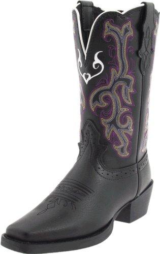 Justin Boots Stampede Western Boot (toddler/Little Kid/Big Kid),Black Deery,2.5 D US Toddler -