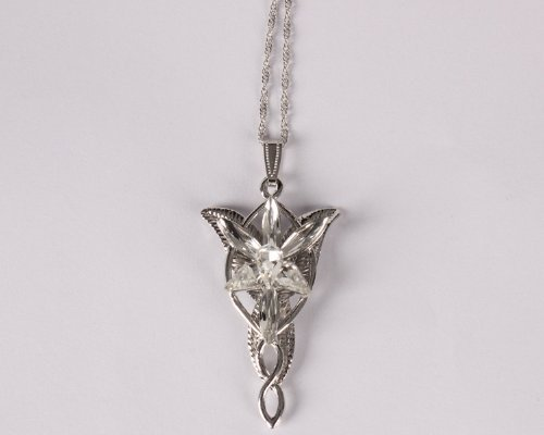 Eforlife NEW Silver Fashion Vintage Arwen's Evenstar Necklace Lord of the Rings (Lord Of The Rings Uruk Hai Theme)