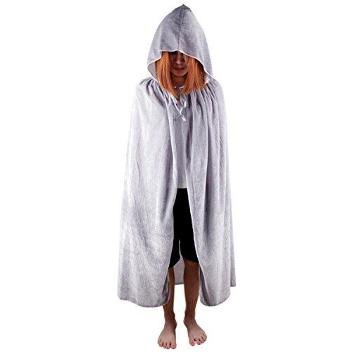[Samtree Christmas Halloween Costumes Cape for Kids,Velvet Hooded Cosplay Party Cloak (M(Length:31.5