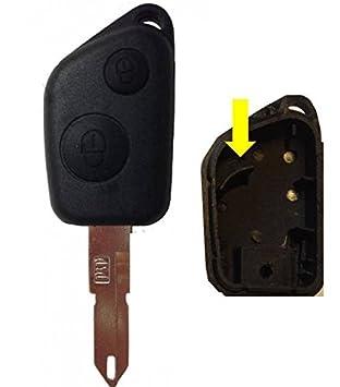 Carcasa con dos botones para llave de Peugeot 106, 206, 306, 405, Boxer y Partner