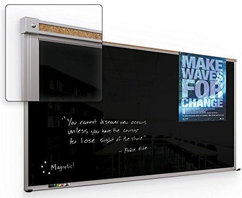 balt 14803 Framed Magnetic Glass Dry Erase Whiteboard by Balt