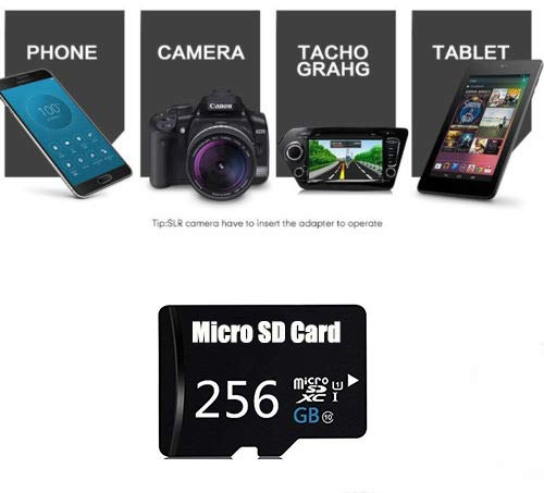 Mini 256GB Micro SD SDXC Card,MicroSD Class 10 Memory Card with Adapter