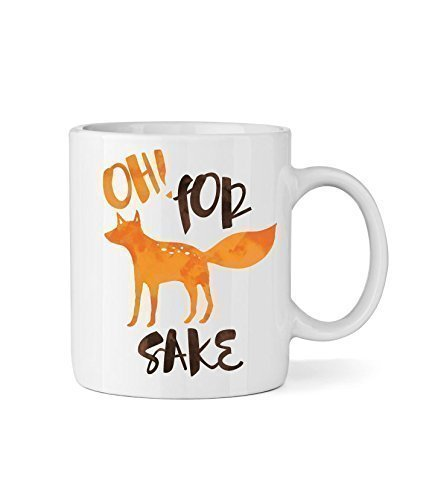 Oh! For Fox Sake Ceramic Coffee Mug - Funny Coffee Mug - Fox & Clover Original