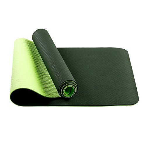 Non Slip Yoga Mat Ultra Lightweight Anti-tear Exercise Mat - Perfect for Pilates Gym Home Exercise & Outdoor Activites - Multipurpose Workout Pad
