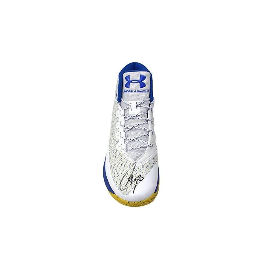 Stephen Curry Signed White/Blue Game Model Under Armor Curry 3 Shoe (Single)