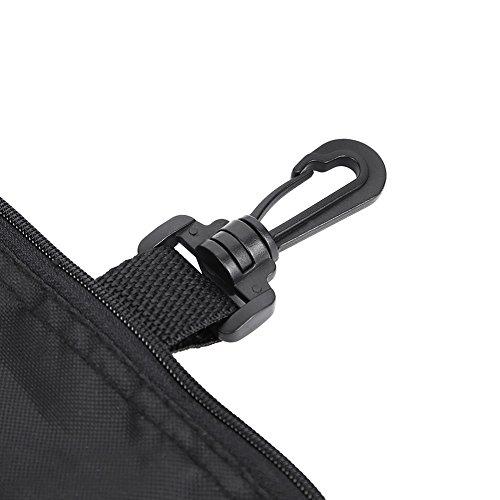 GOTOTOP Multi-Pocket Golf Bag Golf Ball Black Zipper Handbag Bag Useful Golf Ball Handbag Golf Accessories Bag(19 15.5cm / 7.5 6.1inch) by GOTOTOP (Image #6)
