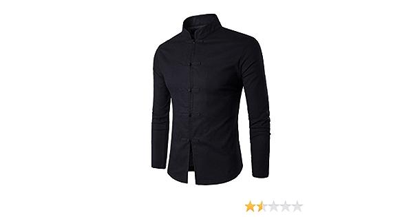Camisa para Hombre Camisa China Costume Tang Suit Kungfu ...