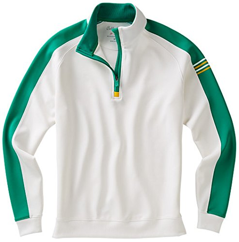 Bobby Jones Men's Xh2O Performance Color Blocked 1/4 Zip Golf Jacket, White, Small by Bobby Jones