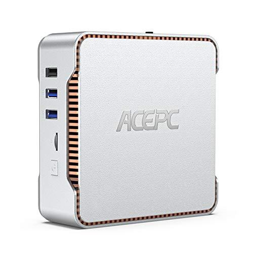 ACEPC Mini PC, Intel Celeron J4125 Processor (up to 2.7GHz) Windows 10 Pro Mini Desktop Computer with 6GB DDR4/128GB ROM…
