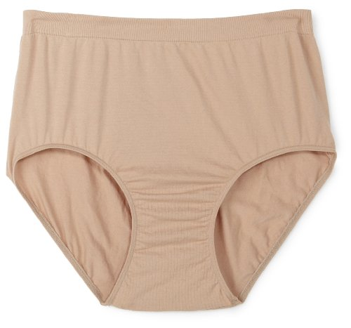 Barely There Underwear - Barely There Women's Barely There Microfiber Full Brief Panty Pant,Nude,6/7